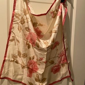 Set of two floral silk scarves